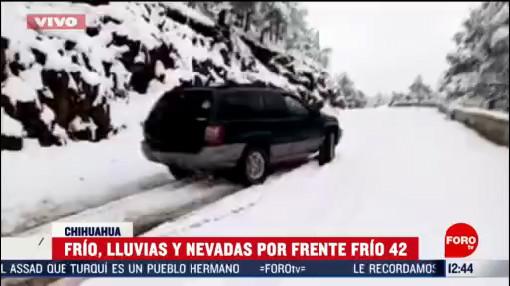 frente frio 42 provoca bajas temperaturas y nevadas en chihuahua
