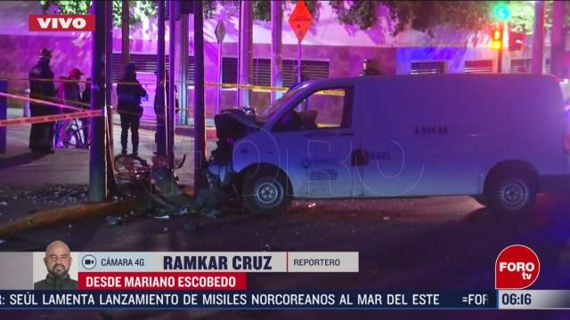 fuerte accidente deja una persona muerta en avenida mariano escobedo