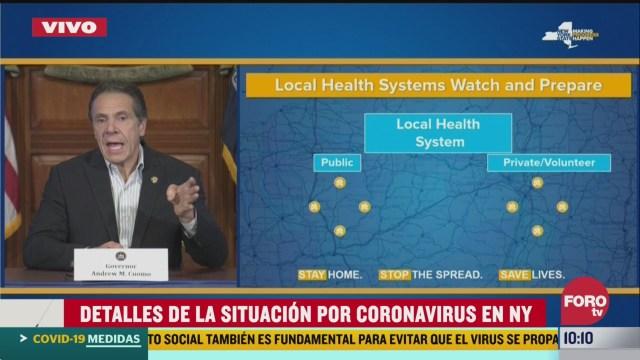 FOTO: 28 marzo 2020, gobernador de nueva york habla de la contingencia por el coronavirus