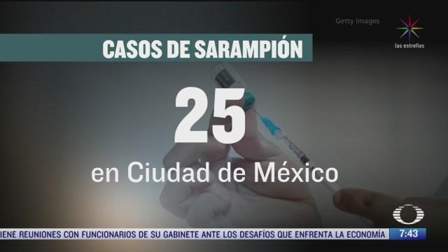 gobierno cdmx confirma 25 casos de sarampion