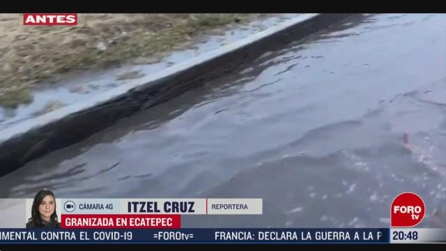 FOTO: 16 marzo 2020, granizada provoca caos en ecatepec