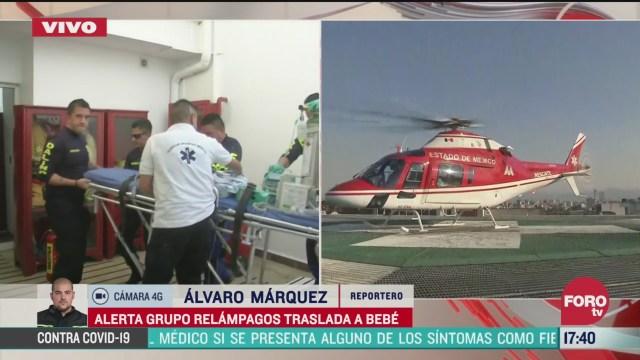 FOTO: grupo relampago traslada a bebe a hospital de cdmx