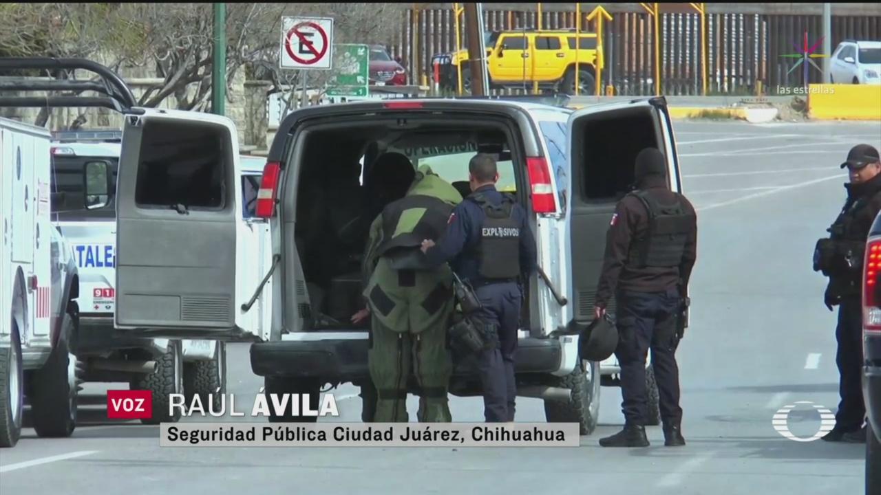 Foto: Hombre Llega Explosivo Canje Armas Dinero Juárez 10 Marzo 2020