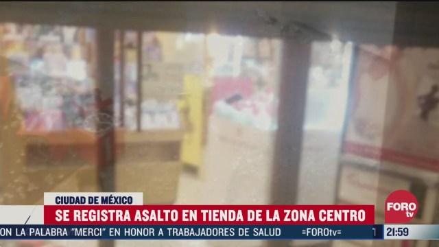 FOTO: 28 marzo 2020, hombres armados asaltan tienda departamental en la cdmx