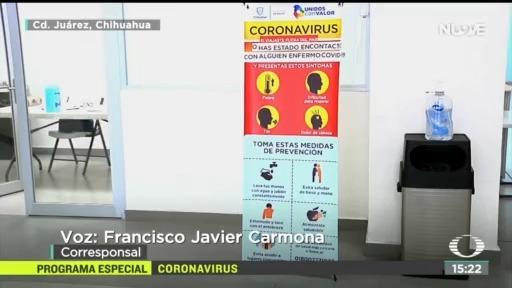FOTO: 16 marzo 2020, intensifican medidas de higiene en cruces fronterizos por coronavirus