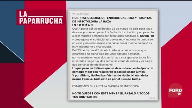 Foto: Coronavirus Noticias Falsas México Covid-19 26 Marzo 2020