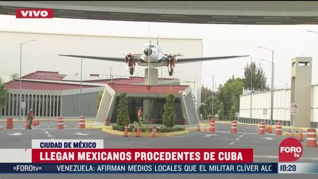 FOTO: 28 marzo 2020, llega avion de la fuerza aerea mexicana con mexicanos varados en cuba