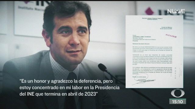 FOTO: lorenzo cordova aclara que no se va del ine
