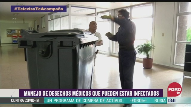 FOTO: manejo de desechos toxicos durante el coronavirus