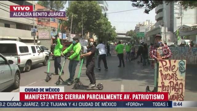 manifestantes cierran parcialmente avenida patriotismo en cdmx