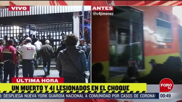 Foto: Metro Cdmx Choque Trenes Tacubaya Un Muerto 41 Heridos 10 Marzo 2020