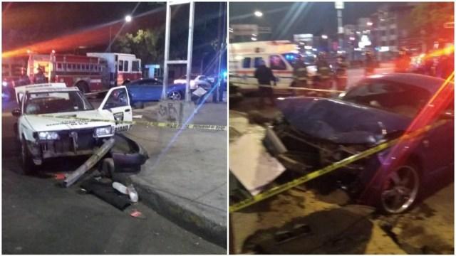 Foto: Muere una personas tras accidente en Cafetales y Calzada del Hueso, 7 de marzo de 2020 (Bomberos CDMX)