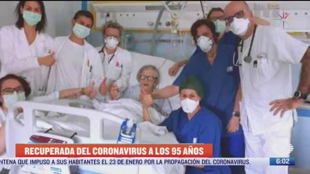 mujer de 95 anos se recupera del coronavirus en italia
