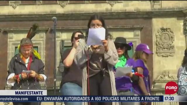 FOTO: 8 marzo 2020, mujeres piden en marcha aborto legal seguro libre y gratuito