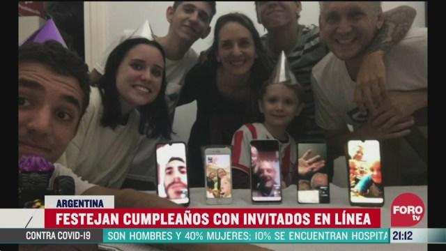 Foto: Coronavirus Niño Celebra Cumpleaños Videollamada Cuarentena COVID-19 25 Marzo 2020