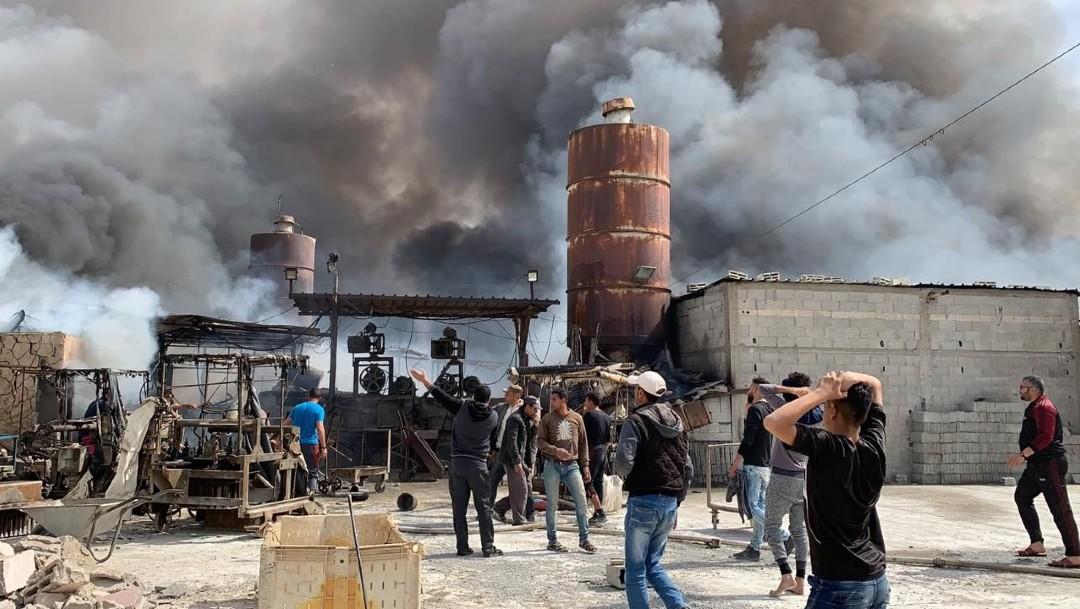 Foto: Nueve muertos, entre ellas seis niños y dos mujeres, dejó como saldo un incendio registrado en el mercado del centro de la Franja de Gaza