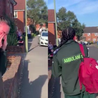 Video: Paramédica en Reino Unido llora al recibir aplausos por combatir el coronavirus