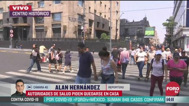 FOTO: 28 marzo 2020, pocas personas caminan en calles del centro historico de la cdmx tras llamado a quedarse en casa