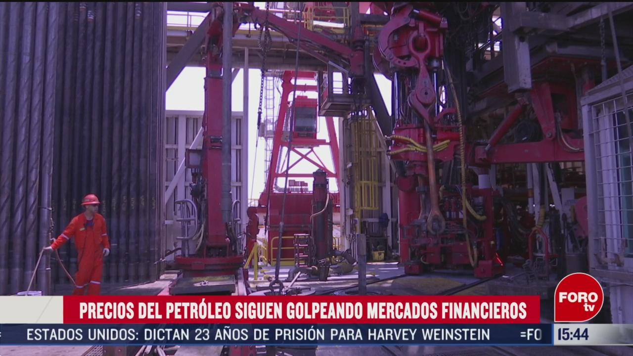 FOTO: precios del petroleo continuan golpeando a mercados en el mundo