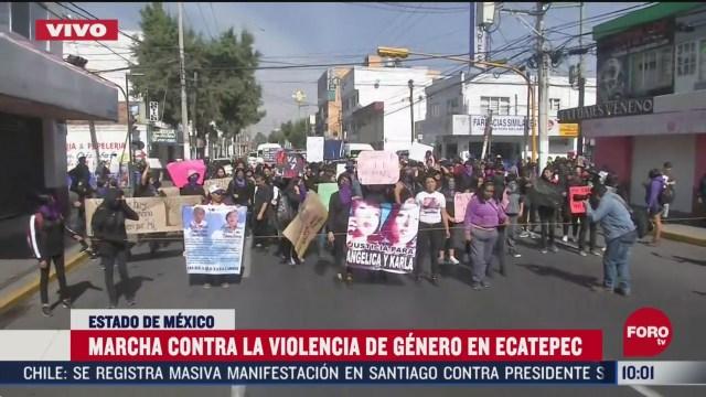 FOTO: 8 marzo 2020,, realizan marcha en ecatepec contra la violencia a las mujeres