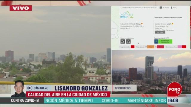FOTO: reportan mala calidad del aire en la ciudad de mexico