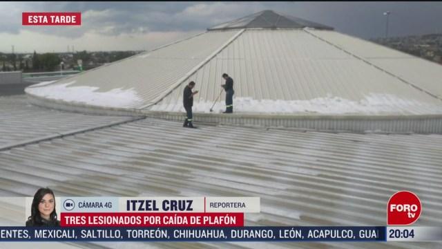 FOTO: 16 marzo 2020, reportan tres lesionados por caida de plafon en plaza de ecatepec