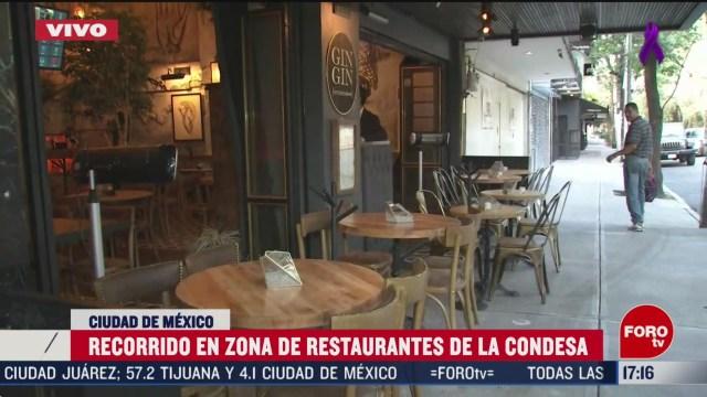 FOTO: restaurantes lucen vacios en la condesa