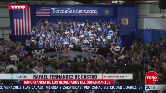 Foto: Sanders Favorito Llevarse Más Delegados Supermartes 3 Marzo 2020
