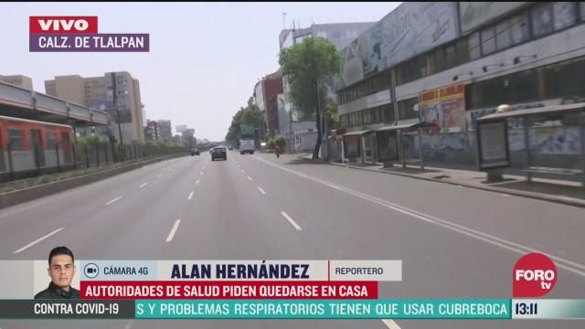FOTO: 28 marzo 2020, se registra trafico ligero en la ciudad de mexico tras llamado a quedarse en casa por coronavirus