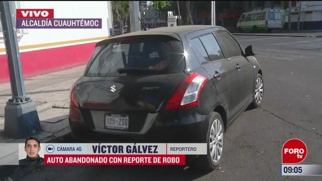 FOTO: 16 marzo 2020, FOROtv se registra un auto abandonado con reporte de robo