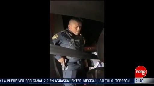 Foto: Video Policía Cdmx Agrede Conductor Santa Fe Separan Cargo 13 Marzo 2020