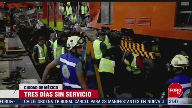Foto: Trabajos Retirar Trenes Accidentados Metro Tacubaya 13 Marzo 2020