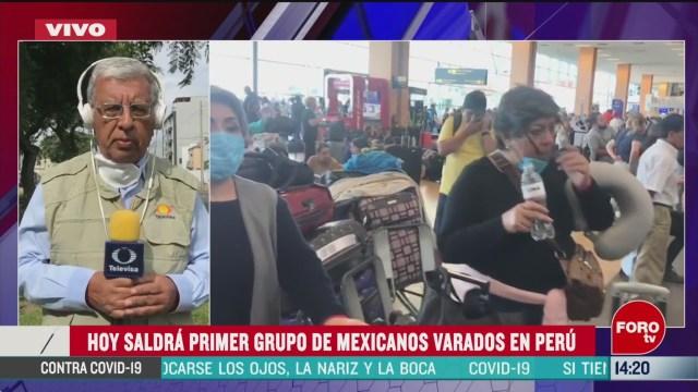 FOTO: sre gestiona retorno de mexicanos en peru