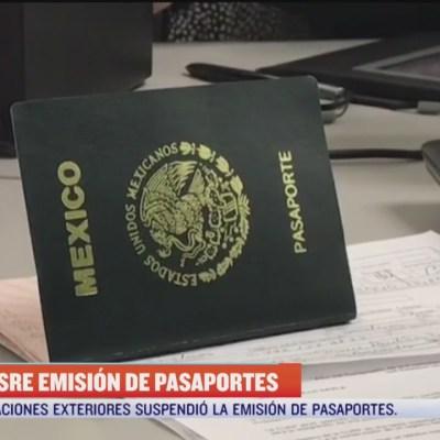 SRE suspende emisión de pasaportes en todas sus oficinas