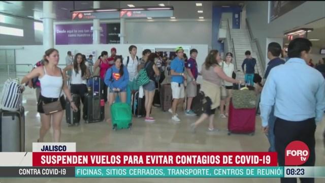 suspenderan vuelos para evitar contagios de coronavirus en jalisco