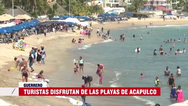 FOTO: 14 marzo 2020, turistas disfrutan las playas de acapulco