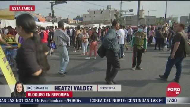 FOTO: 21 marzo 2020, vagoneros retiran bloqueo en paseo de la reforma