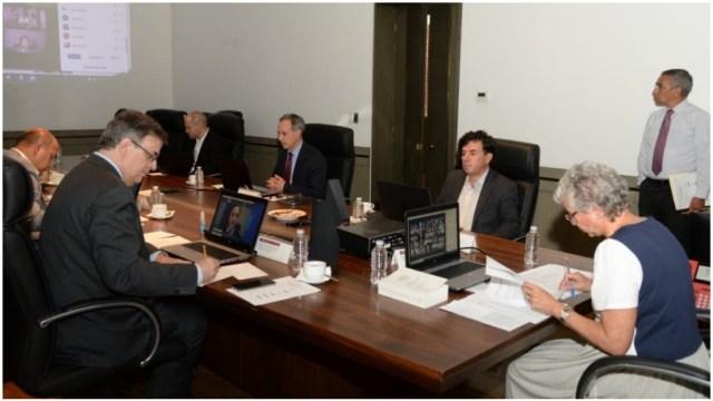 Autoridades encabezaron una videoconferencia sobre el plan para hacer frente al coronavirus, 31 de marzo de 2020 (Segob)