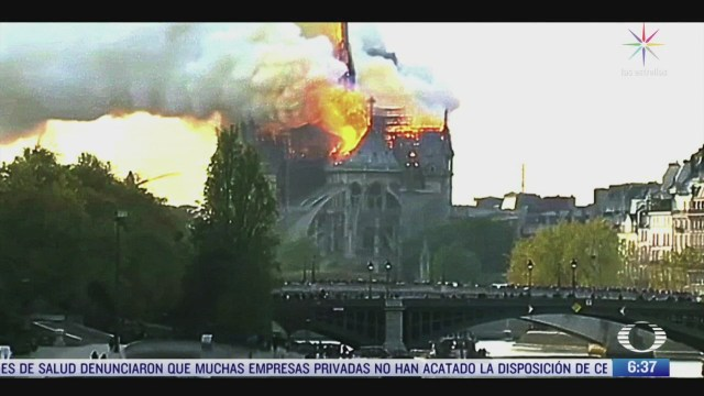 a un ano del incendio en la catedral de notre dame