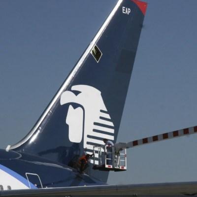 Un avión de la empresa Aeromexico en el Aeropuerto Internacional Benito Juarez. (Foto: Cuartoscuro/archivo)