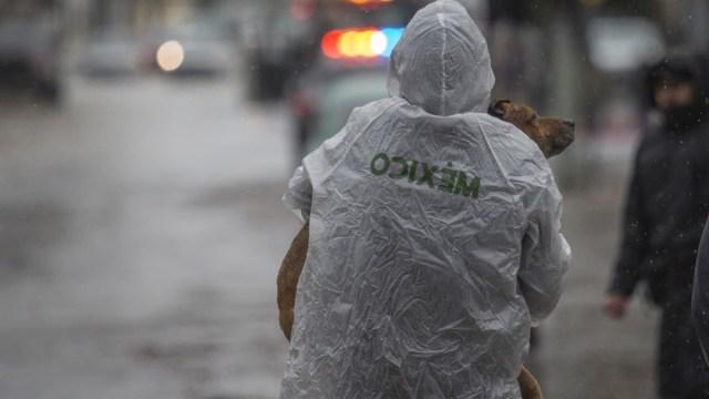 Lluvia, granizo y viento sorprenden a la Ciudad de México