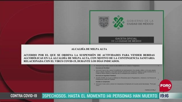 Foto: Coronavirus Alcaldía Milpa Alta Aplica Ley Seca COVID-19 7 Abril 2020