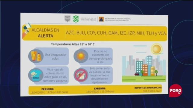 FOTO:18 de abril 2020, alerta amarilla por altas temperaturas en la ciudad de mexico