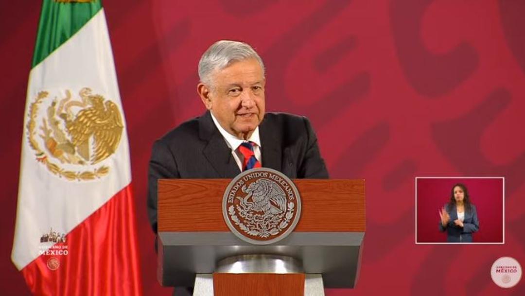 Foto: El presidente de México, Andrés Manuel López Obrador, en su conferencia de prensa matutina, 15 marzo 2020