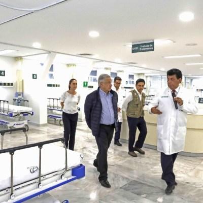 Coronavirus: AMLO visita hospitales que atenderán pacientes
