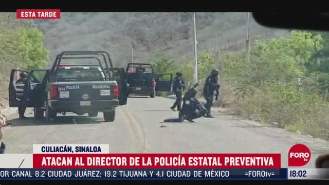 FOTO: atacan a balazos a director de la policia de sinaloa