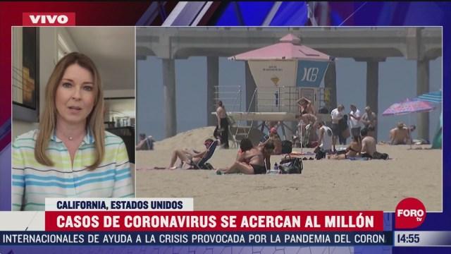 casos de coronavirus se acercan al millon en california