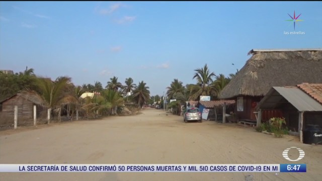 cierran playas de oaxaca por coronavirus