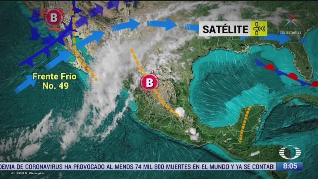 clima al aire frente frio 49 provocara bajas temperaturas en mexico