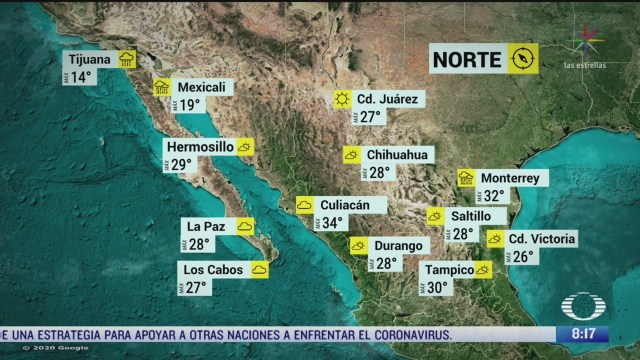 clima al aire preven 30 grados centigrados para la cdmx